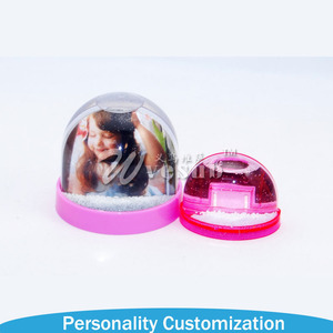 Magic Acrylic Snow Globes With Photo Insert