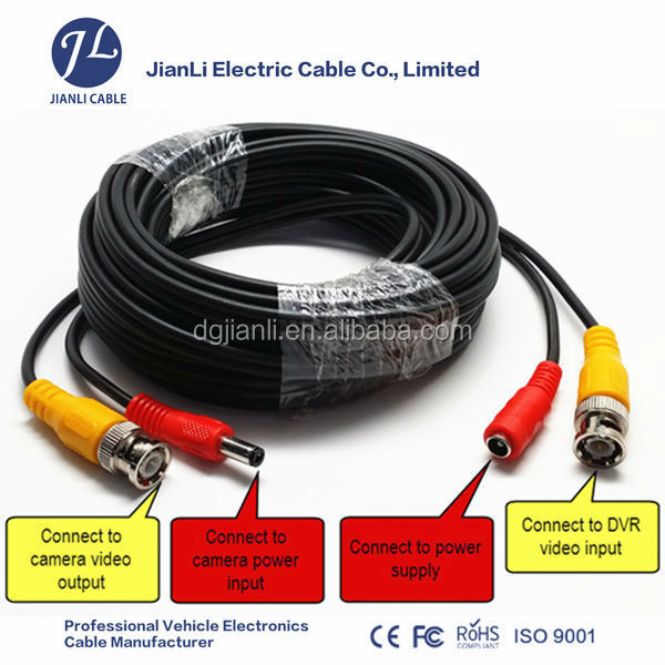 CCTV Security Camera Video Audio BNC RCA Cable