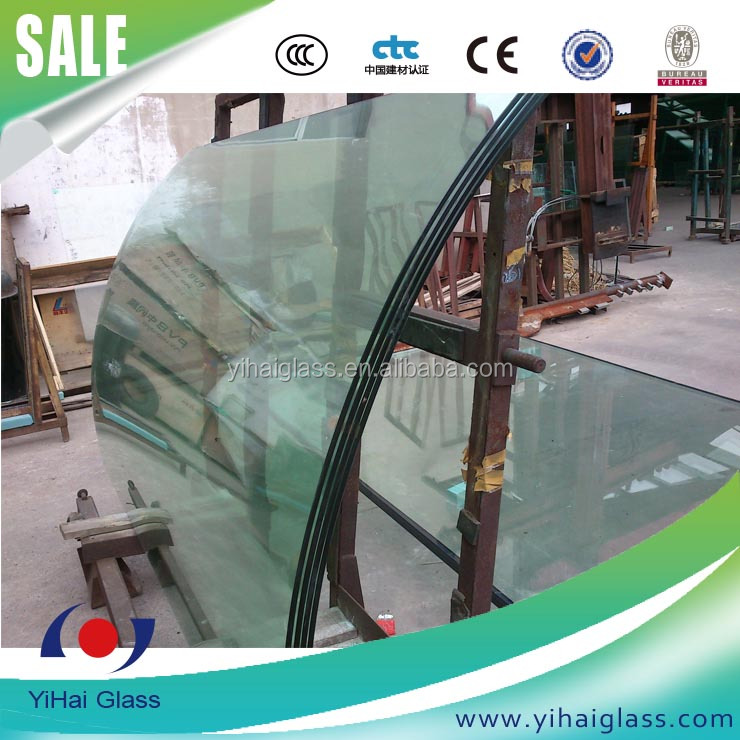 high-end 10mm tempered curved glass table