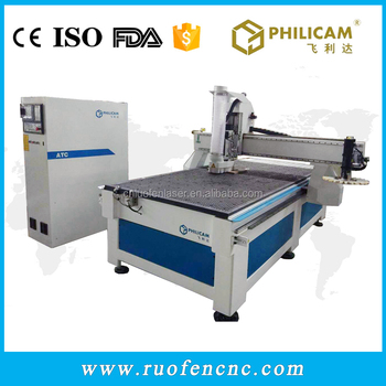 Philicam syntec controller cnc router door making wood carving machine