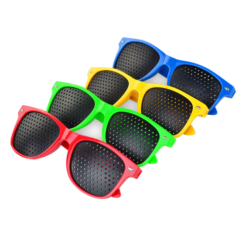 Custom Promotional personalized glasses with your logo high quality PC lenses Pinhole sun glasses