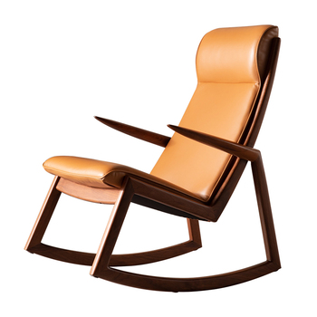 Cool New Chinese Style Is Simple And Modern Yellow Leather Leisure Rocking Chair Buy Leisure Chair Modern Rocking Chair Yellow Leather Lounge Chair Customarchery Wood Chair Design Ideas Customarcherynet
