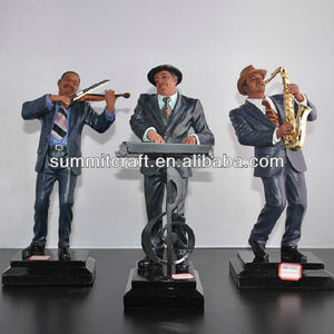 Custom resin jazz statue jazz figurines for Indooer decoration