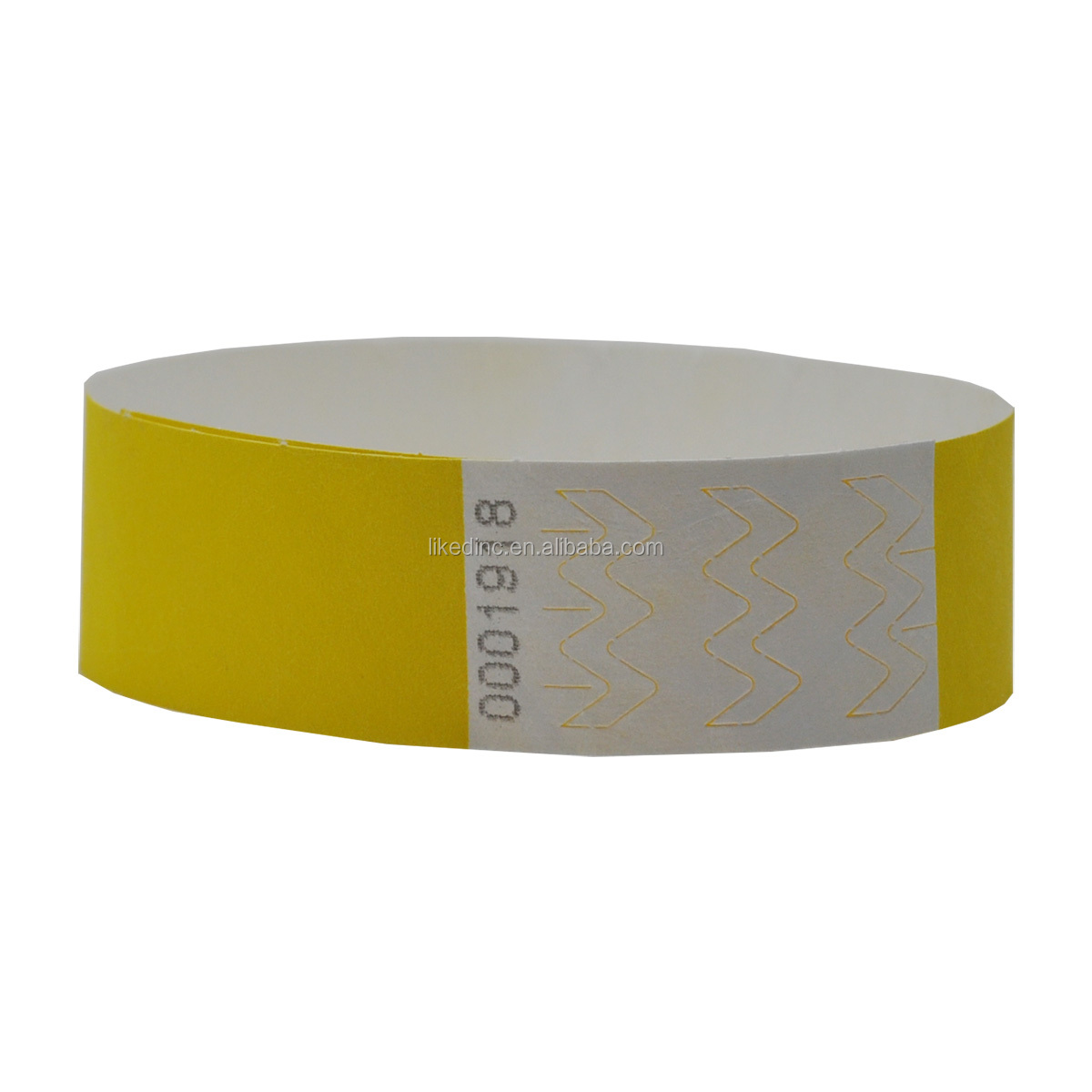 Original style one time use tyvek paper rfid wristband bracelet for ticket
