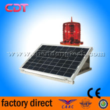 medium intensity solar power Airport runway lightings ,red led flashing 2000cd airport warning lights