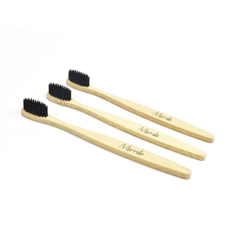 Oral Care Bambu Produk Paket 4 Bambu Sikat Gigi 100% Organik Berdiri