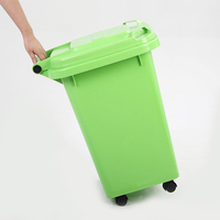 pure color plastic waste container,waste recycling machinery and public dustbin outdoor litter trash