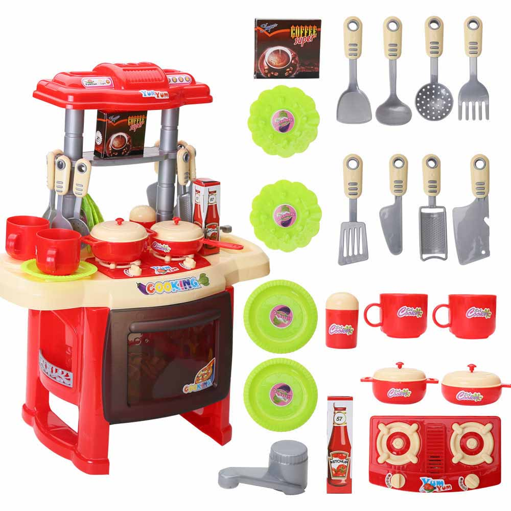 US $19.9 |Kitchen Toys Beauty Cooking Toy Play set for Children Girls Toys  Kids Pretend Play Toys With Light Sound Effect Funny Play-in Blocks from ...