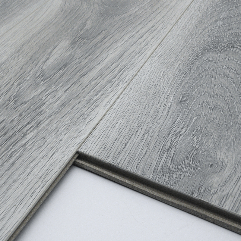 12mm Ac3 Light Gray Finished Laminate Flooring Grey German Distressed Product On