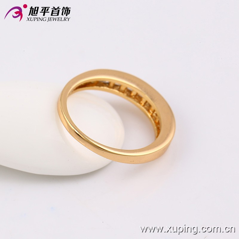 13724 Xuping 18k gold new style ring set with zircon, gold fashion jewelry wedding couple ring set
