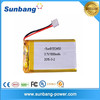 Rechargeable li polymer battery 553450 polymer li-ion battery 3.7v 1000mah for digital product