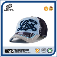 3D embroider patch cheap custom washed baseball cap hard hat and cap