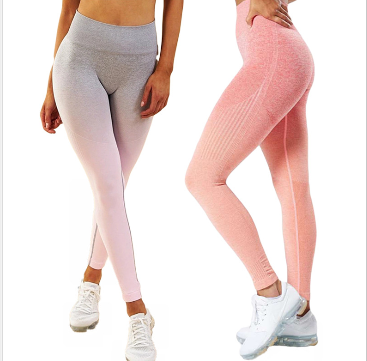 Sport Yoga farbverlauf energie Legging Frauen Workout Fitness Laufhose Gym Strumpfhosen Stretch Sportswear Yoga Leggings