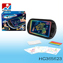 Newest educational toy kids erasable 3D magic drawing board HC365623