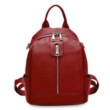 Рюкзак Zency Женский, из 100% натуральной воловьей кожи, черный, для путешествий(Китай)