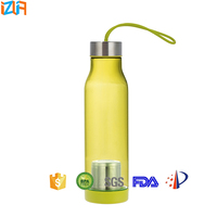 600ML Tritan BPA Free Plastic Sport Water Bottle With Tea Filter