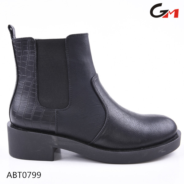 2016 new design top quality ladies women chelsea boots with elastic