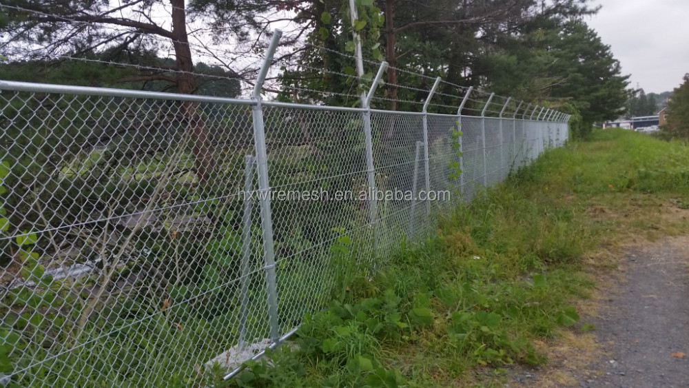 Chain Link Fence Gate / Double Leaves Wire Mesh Gate / Security ...
