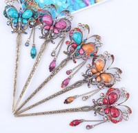 Butterfly Hair Sticks Chinese Wedding Bridal Hair Accessories