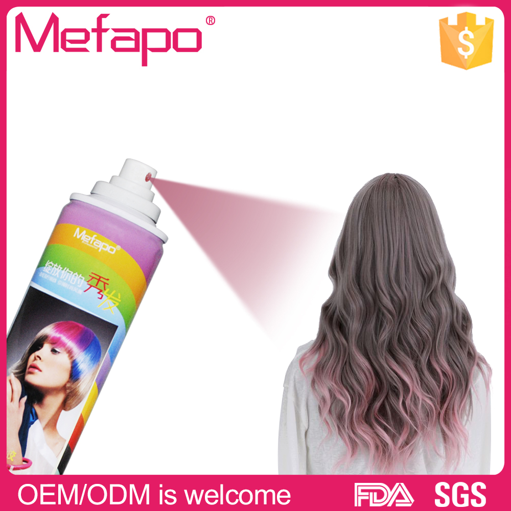 NEW ARRIVAL dark grey washable dye temporary hair color spray