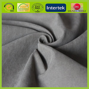 new Micro fiber brushed suede backing bonded t/c fabric material for sofa and garments upholstery