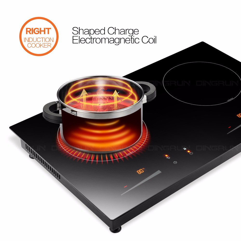 Metal Body 2 Burner Induction Cooker Vs Infrared Cooker