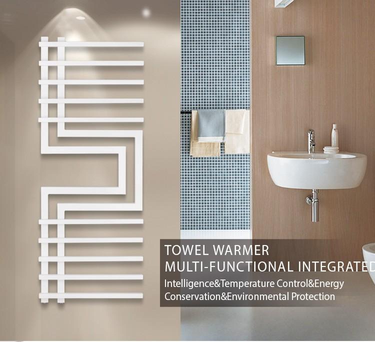 Design Handtuchtrockner Bad.1300 500mm Nebel Stil Weiss Designer Erhitzt Handtuchtrockner