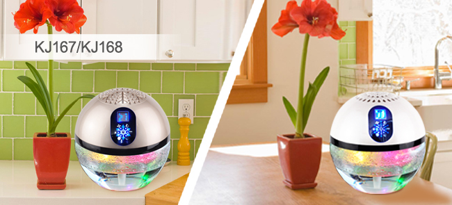 Superior Household Office Water Air Purifier Led Light Globe Wood Freshener  Fragrance Oil Water Based Electric Air