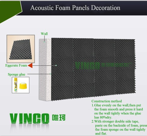 Decorative Sound Isolation Studio Foam Panels Open Cell Acoustic Insulation  Sound Proofing Foam Factory - Buy Decorative Sound Isolation Studio Foam