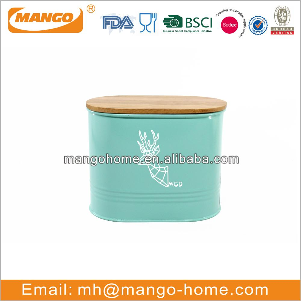 Green color metal paper holder storage box cup holder and mug kitchen use