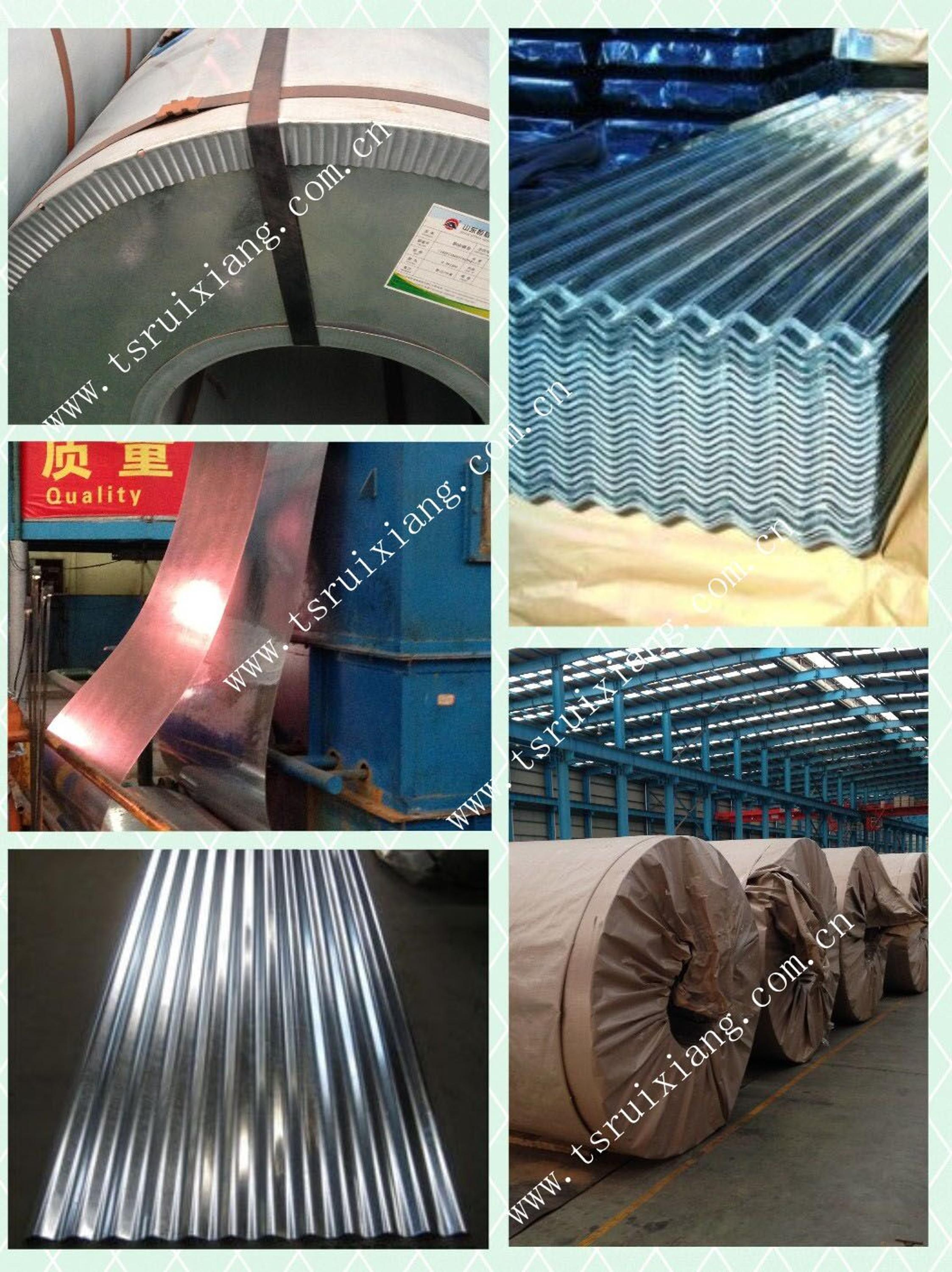 Mytext 0.90mm 20 Gauge Corrugated Steel Galvanized Roofing Sheet ...