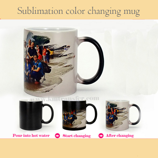 11oz ceramic color changing coffee use blank magic cup sublimation