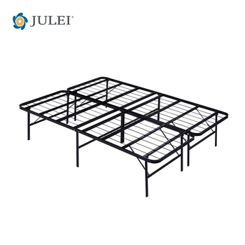 New Smart Base Mattress Foundation Platform Bed Metal Frame Folding ...