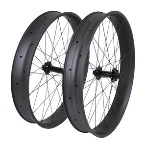 Carbon composite bike wheels 80MM hookless carbon fat bike wheels 26""
