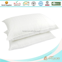 Hotel Down Feather Pillow Inserts White Washable Hypoallergenic High Quality Down Feather Pillow Insert