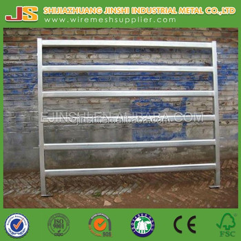 Galvanized round pipe livestock metal corral fence panels for horses