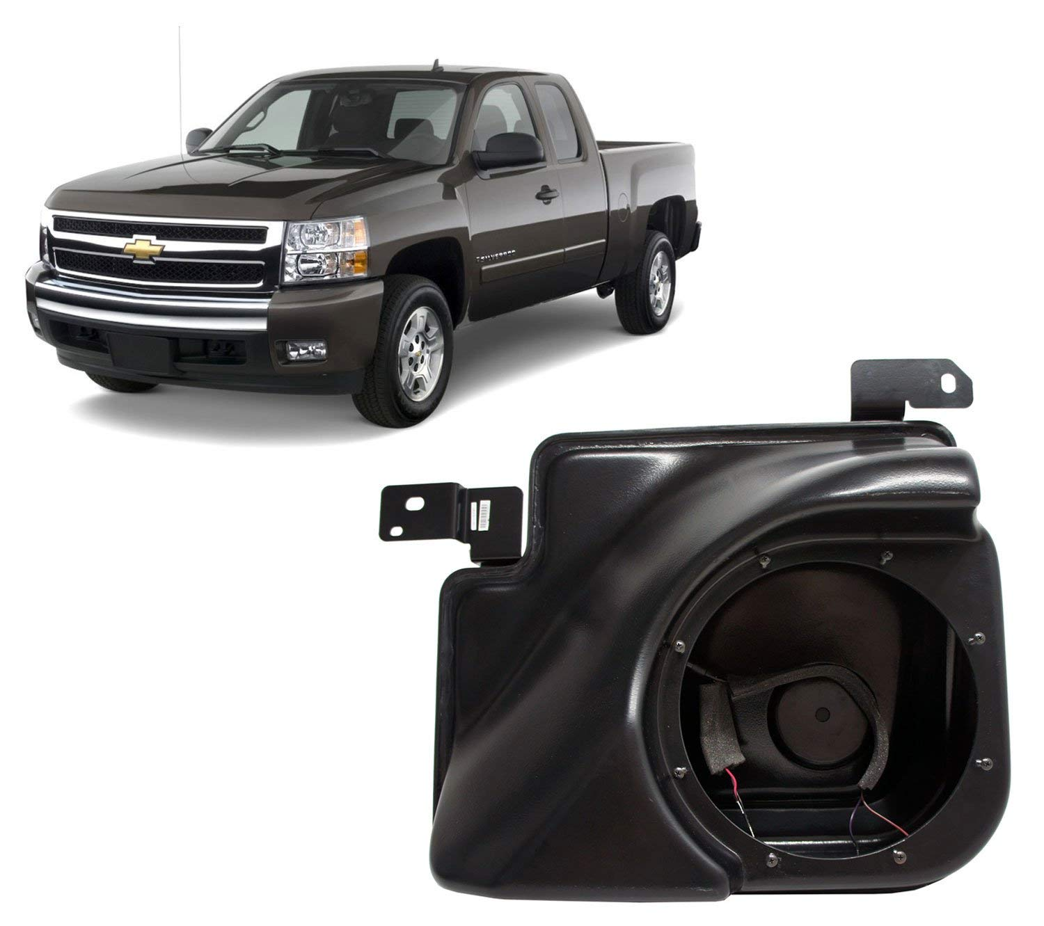 2007-2013 Chevy Silverado Ext Cab Truck Empty Kicker 10 Custom Sub Box Enclosure