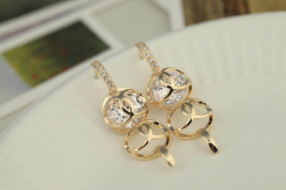 Top Ing Style Latest Gold Earing Design Fashionable Bead Earring Jewelry