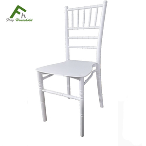 Modern Rental Wedding Event Plastic Dining White Chiavari Party Chair