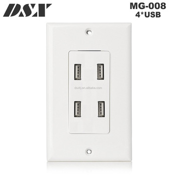 Usa Duplex Wall Socket Outlet 4 Usb Port 4 8a High Speed Usb Charger