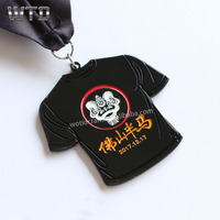 high quality 2019 custom half marathon league stand medal with blank sublimation medal ribbon