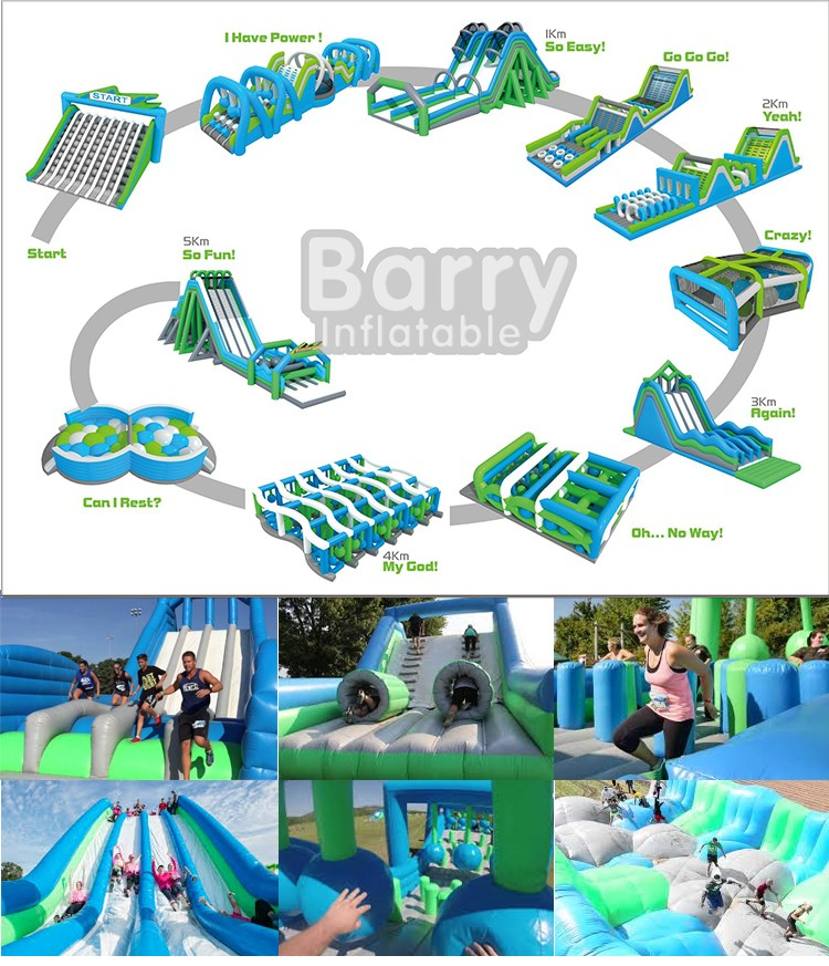 The Extreme Insane inflatable 5k run, Inflatable Obstacle Course for Adults