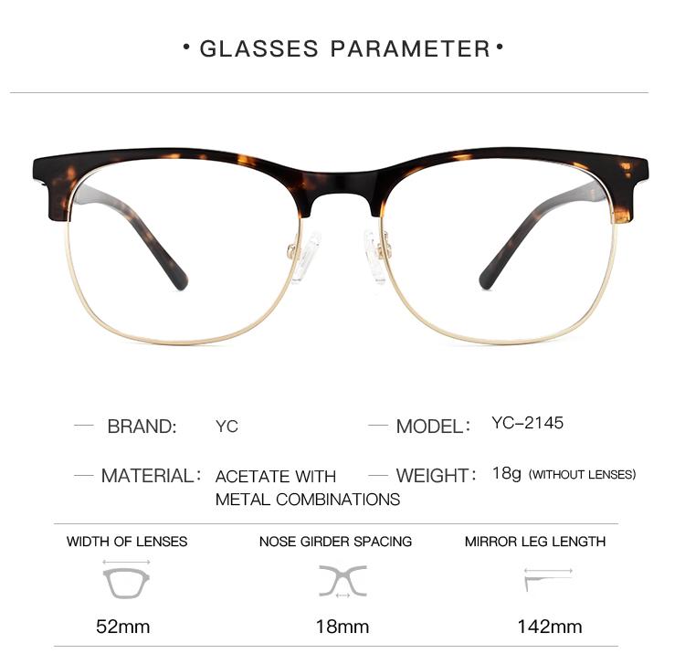 a53e86e0e53 2018 newest ready hald rim square optical spectacles for mens designer  glasses frames factory price NO
