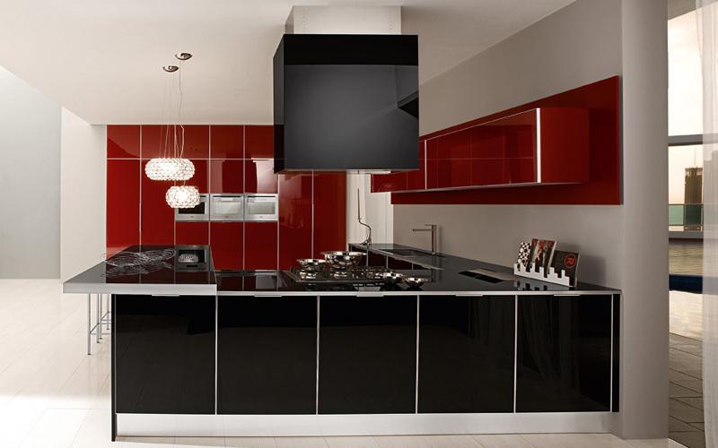dos colores nuevo estilo moderno de alto brillo lacado cocina mueble cocina modelismo