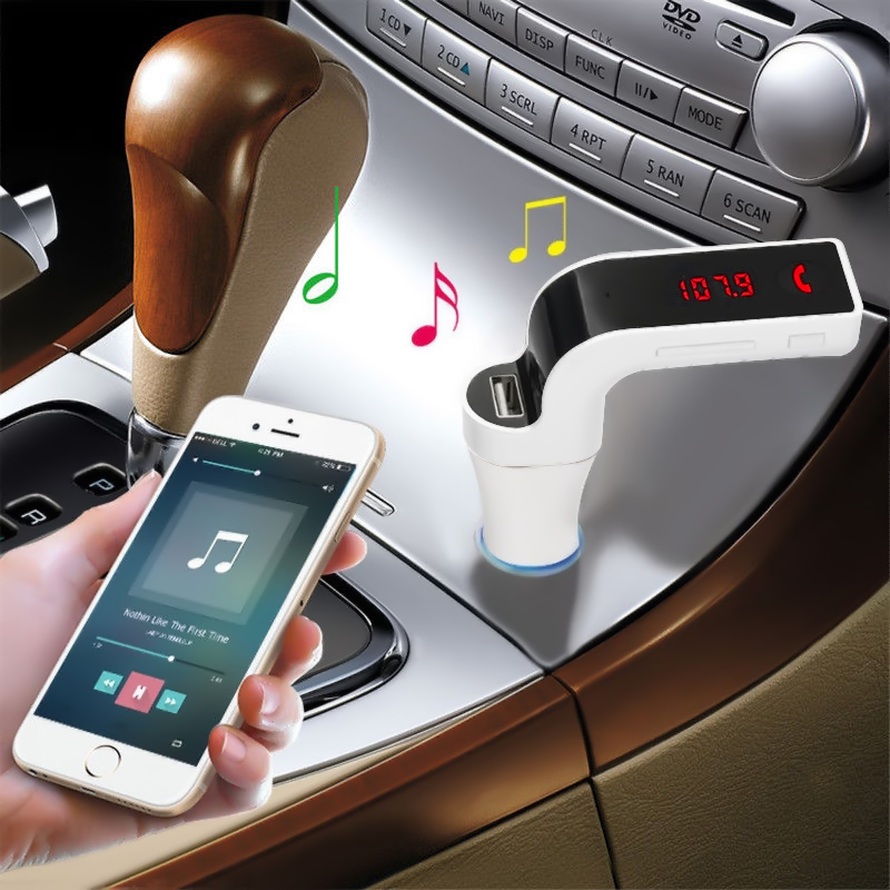 G7 Wireless Bluetooth Car MP3 Player Music Receiver FM Transmitter Radio Support USB TF Card Mic Hand free