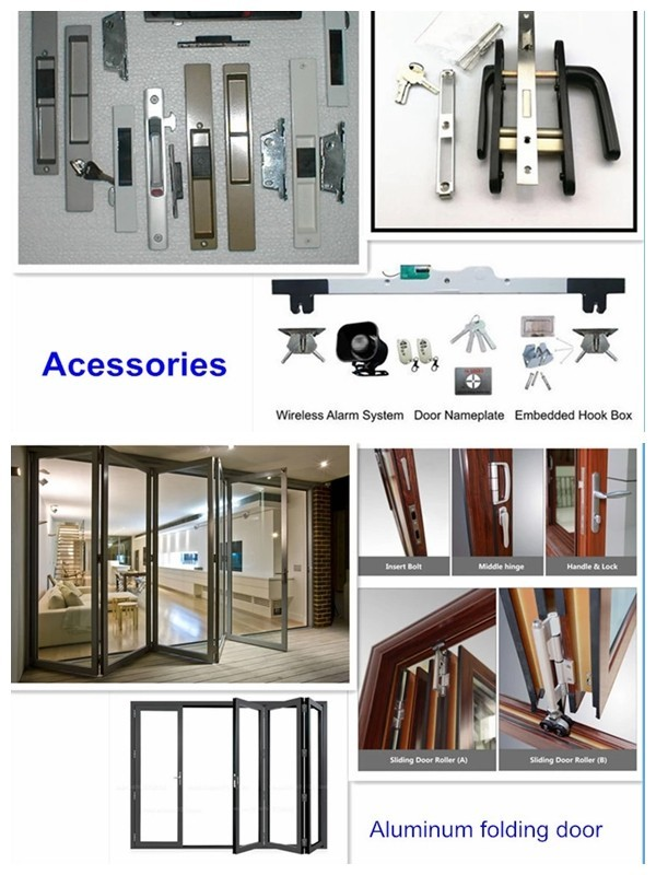 product-Powder Coating Aluminum Tempered Glazed Exterior Foldable Door Glass Folding Doors-Zhongtai--2