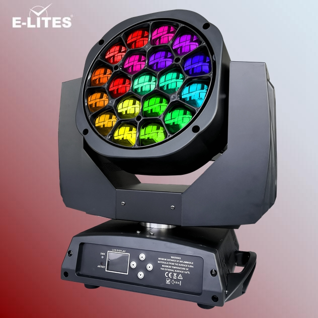 A level 19x15W RGBW led moving head ,Bee Eye K10,zoom wash led stage light
