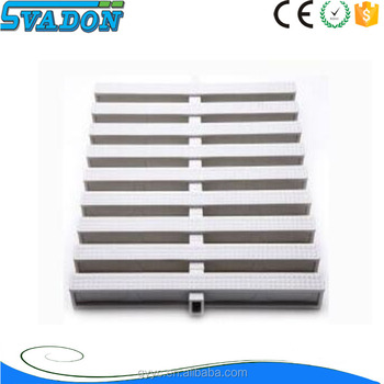 Swimming Pool Pvc Gutter Grating High Tech Slip Resistant