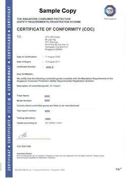 Certificate Of Conformity Coc Under Cps Scheme Buy