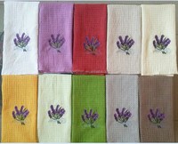 waffle tea towel in many colors with embroidery